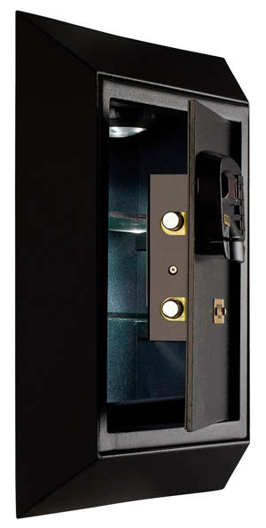 Silver Wall Safe Opened