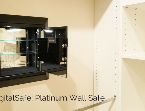 Hidden Compartment in Platinum Wall Safe