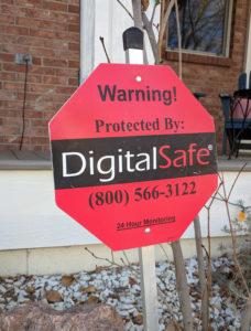 DigitalSafe Alarms Yard Sign